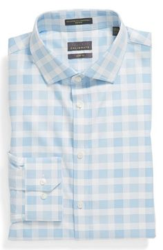 Calibrate Slim Fit Non-Iron Dress Shirt available at #Nordstrom silver