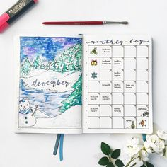 Hello December ❄️☃️ I started my bujo in February, I can't believe that almost a year has passed since then. I still have half notebook empty