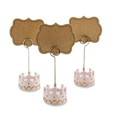 Kate Aspen Little Princess Crown Place Card Holders, Pink Princess Party, Little Princess, Kate Aspen, Gold Baby Showers, Shower Time, Pink Girl, Pink And Gold, Cool Kids, Party Planning