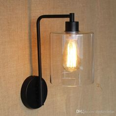 Vintage Iron Wall Sconce Personalized Christmas Gifts Christmas Retro Lights Transparent Lampshade Edison Bulb Lighting Fast Delivery From Dpgkevinfan, $95.03 | Dhgate.Com