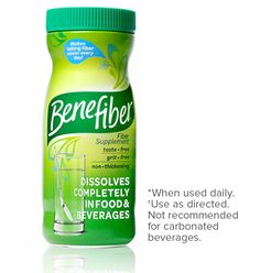 Benefiber | 4g fiber per 2 teaspoons (Shoot for 6-8 grams/day)