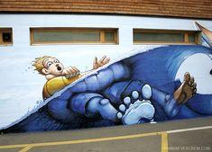 www.nevercrew.com - Lido Lugano 2005 01 (graffiti murales switzerland swiss art never nevercrew kuoni spray)