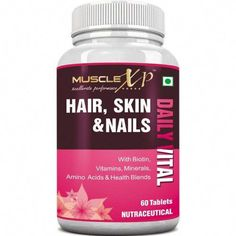 Buy MuscleXP Hair, Skin & Nails Biotin Daily Vital (MultiVitamin with Vitamins, Minerals, Amino Acids & Health Blends) Online.Shop Now ! Best Hair Growth Supplements, Natural Supplements, Protein Supplements, Natural Cancer Cures, Natural Cures, Varicose Vein Removal, Skin Care Home Remedies, Best Multivitamin, Biotin Hair