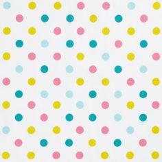 Tissu à pois multicolores