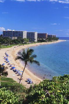 Kaanapali Beach, Hawaii, Maui. Stayed here. Definite paradise.