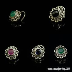 MACS Jewelry silver stone nosepins.  Stock Alert!! Beauties back again! Visit www.macsjewelry.com to buy    #macsjewelry #silvernosepins #stonenosepins #nosepin #nosering #indiannosepin #indian #nosepiercing #nosejewelry #swag #ethnic #semipreciousstone #nosepinlove #piercednose
