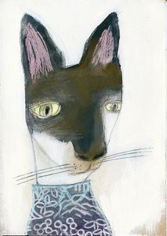 ♞ Artful Animals ♞ bird, dog, cat, fish, bunny and animal paintings - manon gauthier