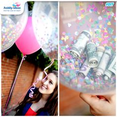 Here's an innovative way to surprise your friends. Simply fill a balloon with handwritten notes, cash or even simple confetti! (Source: buzzfeed.com)