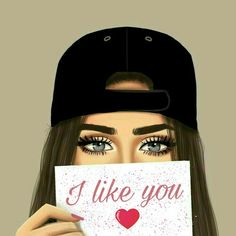 I like you actually I love you a lottttttt♥♥but u don't care ! Girly Drawings, Couple Drawings, Imagenes Free, Sarra Art, Lovely Girl Image, Girly M, Cute Girl Drawing, Cute Anime Pics, Digital Art Girl