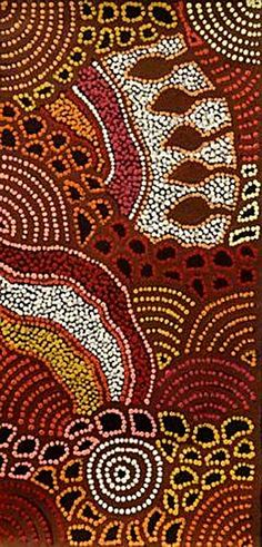 Amazing Australian Aboriginal Artwork by Nellie Marks Nakamarra / Women's Ceremony is the title of the painting. Aboriginal Art Australian, Indigenous Australian Art, Indigenous Art, Aboriginal Dot Painting, Aboriginal Artists, Kunst Der Aborigines, Stippling Art, Tribal Patterns, Art Plastique