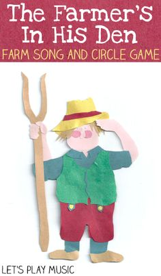 Farm song and circle game for kids