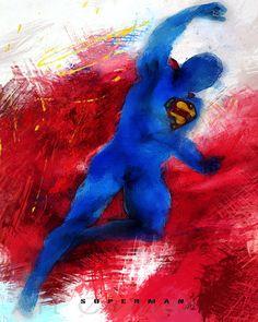 Superman Print Superman poster Superman Art Print by ArtCenter1