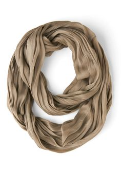 Brighten Up Circle Scarf in Taupe, #ModCloth #bought