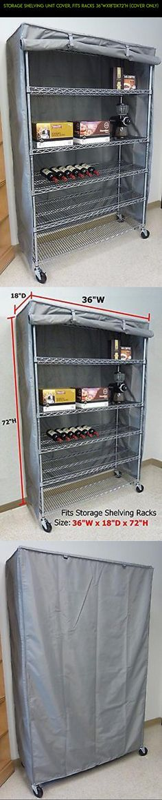 """Storage Shelving unit cover, fits racks 36""""Wx18""""Dx72""""H (Cover Only) #gadgets #fpv #tech #shopping #parts #kit #camera #racing #drone #h #technology #plans #products #storage"""