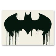 Spray paint #Batman symbol.