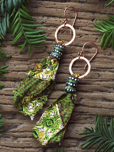 African earrings African fabric earrings by HandmadeEarringsUk