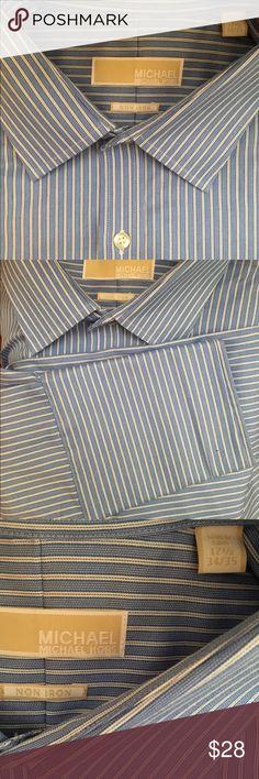 Michael Kors button down shirt Brand new Michael Kors pinstripe button down shirt-100% cotton KORS Michael Kors Shirts Casual Button Down Shirts