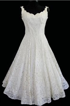 Simple A-line Straps Jewel Knee-Length Lace Beach Wedding Dresses For Bridal
