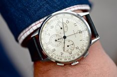 Over-sized Zenith Watch Spotting At The Goodwood Revival: The World's Best Vintage Cars, And Some Really Nice Watches, In One Place Dream Watches, Fine Watches, Luxury Watches, Cool Watches, Watches For Men, Men's Watches, Fashion Watches, Breitling, Beautiful Watches
