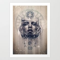 Another incredible piece by Chasen9ne on Society 6.    Stormtrooper Art Print by chasen9ne - $18.00