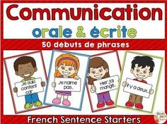 This resource will allow your students to work on oral and written communication. These 50 sentence starters will get them thinking, writing and talking. Oral Communication Skills, Communication Orale, Primary Teaching, Teaching Resources, Teaching Ideas, Teaching French, Teaching Spanish, French Sentences, Core French