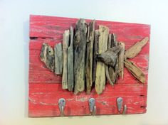 Driftwood Fish Coat Hanger  by ShopSweetlySalvaged on Etsy, $42.00