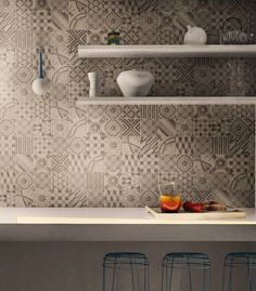 Kitchen wall detail, virtual image, rendered with DomuS3D® 2017 and V-Ray