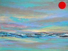 Click on the above images for larger views. Inspired by memories of visits to the coast this is a largecontemporary original abstract landscape/seascape acrylic painting on canvas collaged and highlighted with metal leaf. Fabulous contemporary art to enhance your living or workspace.