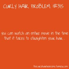 ... and then there is still that one strip in the back that is still curly no matter how much time you spend.