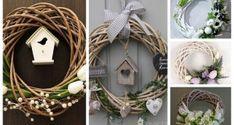 Kupte si obyčejný proutěný kruh za pár korun: 21+ nápadů na krásné jarní věnce, které Vám budou zdobit vchodové dveře! Grapevine Wreath, Grape Vines, Wreaths, Crafts, Home Decor, Craft Ideas, Manualidades, Decoration Home, Door Wreaths