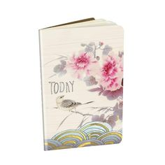 "Decorative Notebook 'Asian Peony' - 3.5"" x 5.5"" saddle sitched notebooks with gold foil embellishments and 32 lined pages. Minimum of 6 per style #966647 $5.99  www.lambertpaint.com"