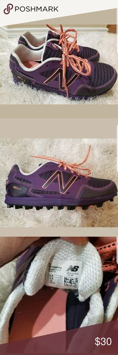 New Balance Minimus Zero V2 Trail Running Sneaker New Balance WT00PP2 Minimus Zero V2 Trail Running Chevron Sneaker Women's US  Size 8.5  Color - Purple/Black/Peach  Brand new, never used without box.  Thanks for looking! New Balance Shoes Sneakers