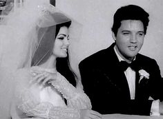 Elvis and Priscilla Presley, May 1, 1967. This post has been featured on a 1000notes.com blog.