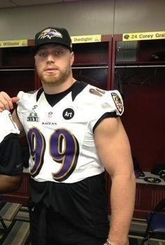Paul Kruger Baltimore Ravens Even Hotter at The Super Bowl...