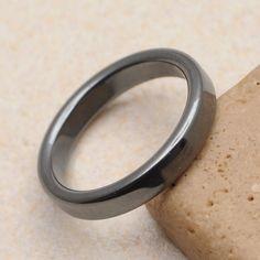 unisex natural hematite gemstone ring size 8 - Camo Wedding Rings With Real Diamonds