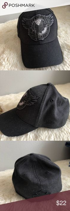 Harley Davidson Hat Harley Davidson baseball cap.NWOT.charcoal gray in color with black detail.size small -medium. Harley-Davidson Accessories Hats