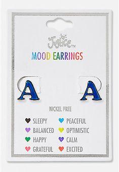 0a30d4da0fe Initial Mood Stud Earrings Justice Accessories