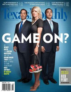 Wendy Davis, Julian Castro, And Joaquin Castro On Turning Texas Blue - With heightened attention after her 11-hour abortion law filibuster in the Texas state legislature, Wendy Davis is on the cover of Texas Monthly along with San Antonio Mayor Julian Castro and his twin brother Rep. Joaquin Castro.