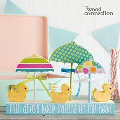 Spring Ducks and Umbrellas
