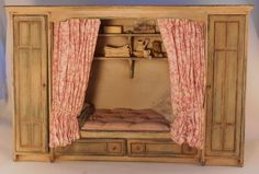 Bed by Janny Warnaar - $600.00 : Swan House Miniatures, Artisan Miniatures for Dollhouses and Roomboxes