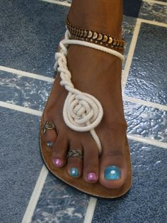 Vegan Infinity Sandals - One sandal, infinite styles , Natural Sand. $47.50, via Etsy.
