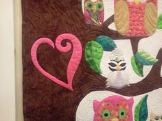 I will stitch her name and bday in the heart Owl Quilts, Kids Rugs, Stitch, Heart, Frame, Decor, Picture Frame, Full Stop, Decoration