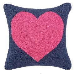 Fuchsia Heart Hook Pillow