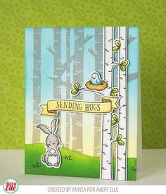 Yainea for Avery Elle Woodland Wonders Clear Stamps Woodland Wonders Die Let it Snow Clear Stamps Snow Caps Elle-ments Die