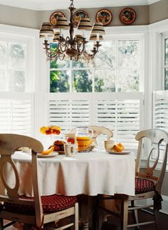 """Basswood Plantation Shutters, Cafe with 2 1/2"""" Louvers in Bright White Painted Finish with Painted Hinges"""