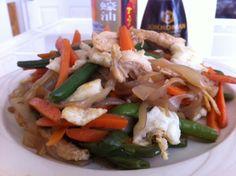 Chicken lo mein. 60g protein!