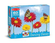 Melissa and Doug Dancing Daisies Cardboard Jigsaw Puzzle, 60-Piece -- This is an Amazon Affiliate link. You can get more details by clicking on the image.