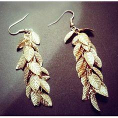 "Серьги ""золотые листья"". $27.97 Drop Earrings, Hair, Jewelry, Products, Jewlery, Bijoux, Schmuck, Drop Earring, Jewerly"