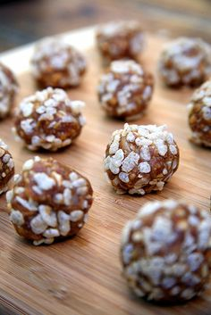 Crispy Vegan Peanut Butter Balls When it comes to no-bake desserts, cookie balls reign supreme. Our peanut butter balls are made with all-natural peanut butter, wheat germ, rolled oats, and coconut, so they're a healthy treat you can enjoy anytime and they double as an energy bar.