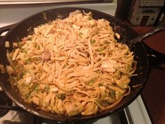 Chicken and Broccoli fettuccine Alfredo